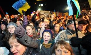 Manifestation le 29 novembre 2013 à Kiev