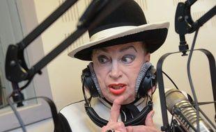 Geneviève de Fontenay lors d'une interview pour radio Voltage en 2014.