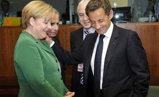 Angela Merkel et Nicolas Sarkozy le 16 septembre 2010, à Bruxelles.