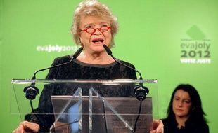 Eva Joly présente ses voeux à la Belleviloise le 5 janvier 2011, à Paris.