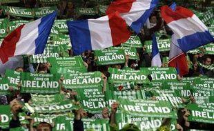 Les supporters irlandais et français à Dublin, le 14 novembre 2009.