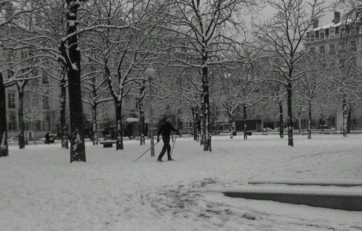 Photo de neige à Lyon envoyée par une internaute – dr