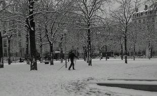 Photo de neige à Lyon envoyée par une internaute