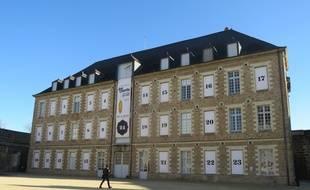 Le calendrier de l'Avent dans la cour du château à Nantes