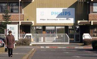 Entrée de l'usine Philips à Dreux, dans l'Ouest de la France.