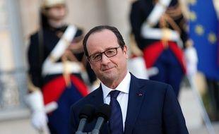 François Hollande à l'Elysée le 31 octobre 2014