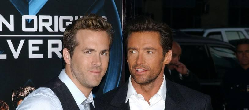 Les acteurs Ryan Reynolds et Hugh Jackman