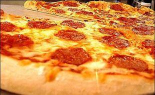 Illustration d'une pizza.