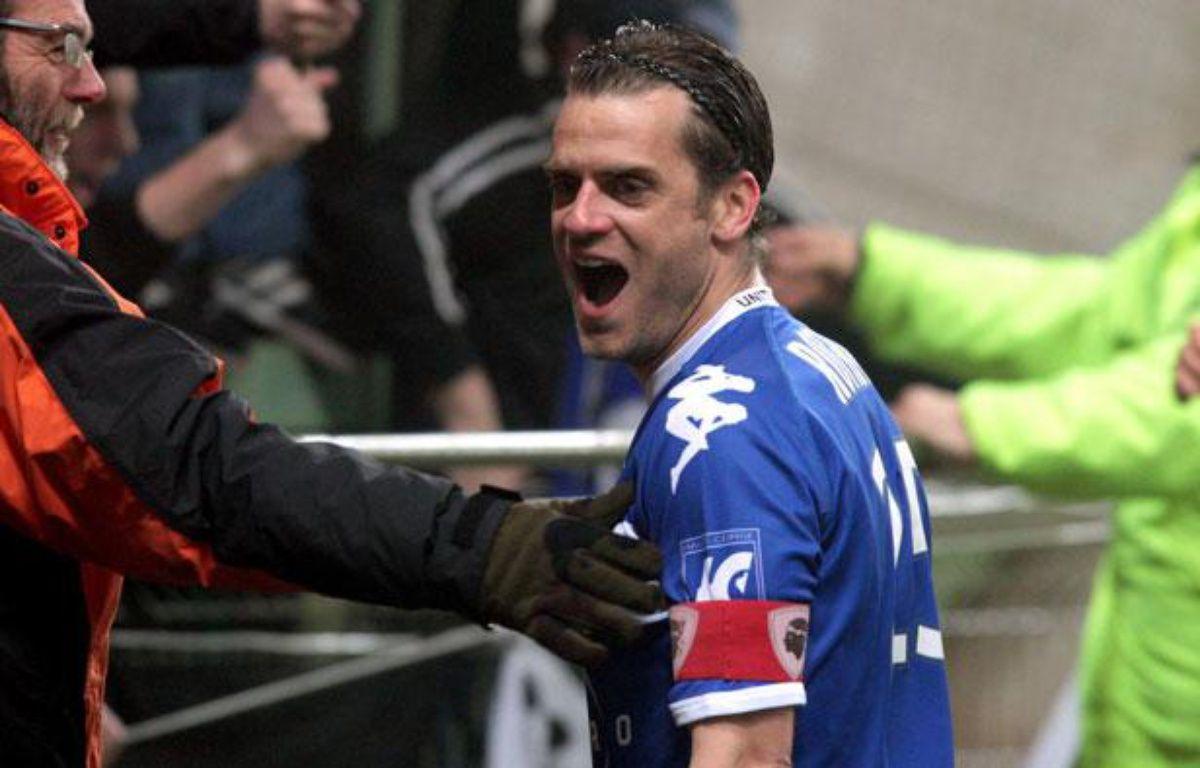 Jérôme Rothen, la saison dernière lors du déplacement victorieux de Bastia dans le Nord-Pas-de-Calais, le 3 mars 2012 à Lens.  – B.Chibane/SIPA
