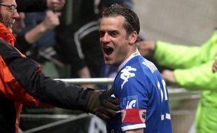 Jérôme Rothen, la saison dernière lors du déplacement victorieux de Bastia dans le Nord-Pas-de-Calais, le 3 mars 2012 à Lens.