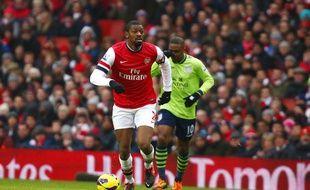 Abou Diaby lors d'un match contre Swansea le 23 février 2013.