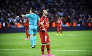 Mathieu Valbuena a connu un retour au Vélodrome compliqué à l'occasion de OM-Lyon (1-1), le 20 septembre 2015.