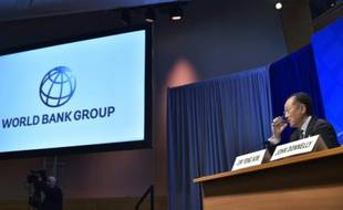 Jim Yong Kim, président de la Banque mondiale, le 14 avril 2016 au siège du FMI à Washington