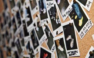 Portofolio des sneakers portées mercredi à Londres lors de la soirée de lancement du site communautaire sneakerpedia.com.