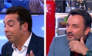 Patrick Cohen et Frédéric Lopez, le 24 novembre 2014, sur France 5.