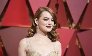Emma Stone lors de la cérémonie des Oscars, le 27 février.