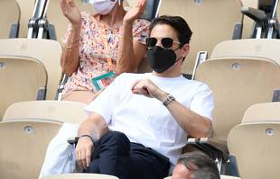 Rami Malek, le 9 juin 2021, à Roland-Garros.