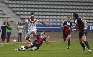 Le match entre le PSG et Lyon, le 29 septembre, au stade Charléty.