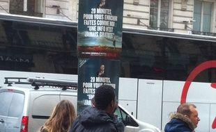 Les affiches publicitaires de Netflix pour promouvoir «Better Call Saul» en face des locaux de 20 Minutes.