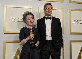 Brad Pitt et Yuh-Jung Youn, le couple improbable des Oscars 2021.