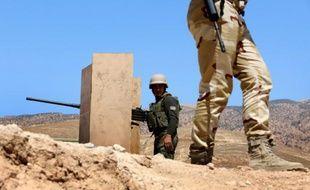 Des combattants pershmergas kurdes le 17 août 2015 à Sinjar