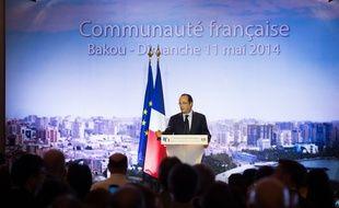 Le Président François Hollande à Bakou, en Azerbaïdjan, le 11 mai 2014.