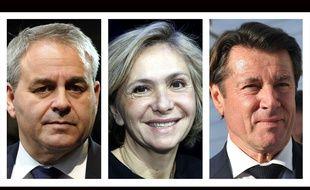 Collage 20 Minutes/Sipa de Xavier Bertrand, Valérie Pécresse et Christian Estrosi, élus LR