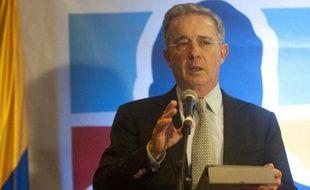 L'ex-président colombien Alvaro Uribe, le 9 mars 2014 à Medellin