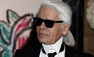 Le grand couturier Karl Lagerfeld en mars 2015.
