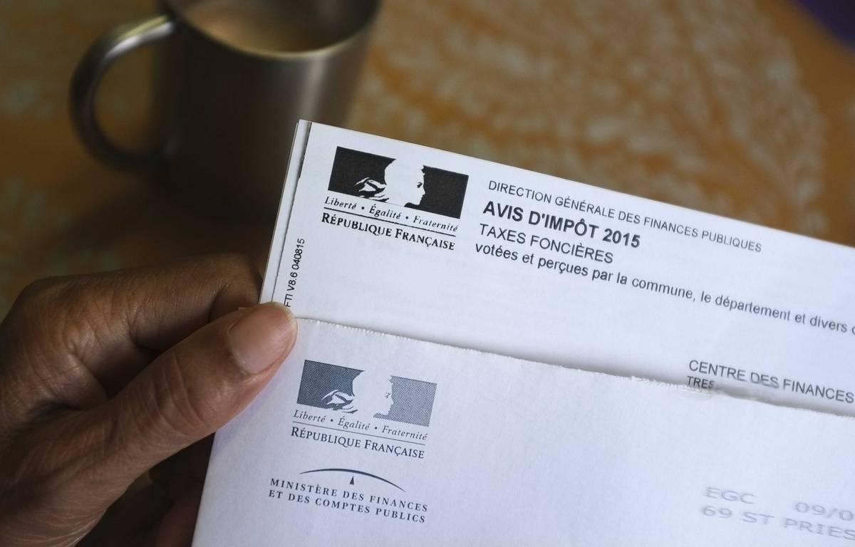 Un avis de taxe foncière en 2015. – LODI FRANCK/SIPA