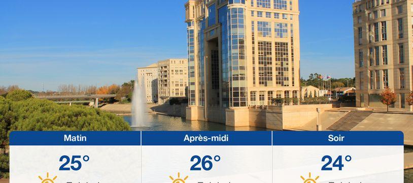 Météo Montpellier: Prévisions du samedi 24 juillet 2021