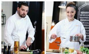 Xavier Pincemin et Coline Faulquier, finalistes de «Top Chef» saison 7.