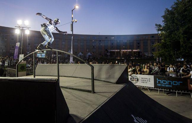 Pour la première fois, les épreuves de roller étaient installées sur l'esplanade de l'Europe.