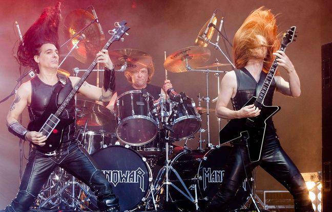Le groupe Manowar en concert à Moscou en 2009