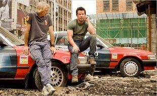 Michael Bay et Mark Wahlberg sur le plateau de Transformers: l'âge de l'extinction