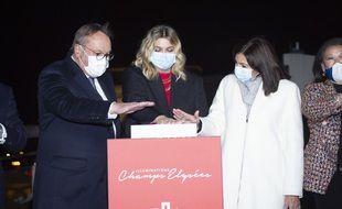 Le lancement des illuminations 2020 des Champs-Elysées ce dimanche soir.