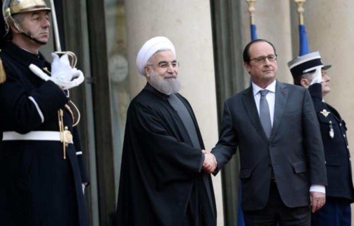 François Hollande et Hassan Rouhani à L'Elysée, le 28 janvier 2016 – STEPHANE DE SAKUTIN AFP
