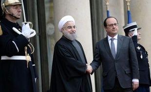 François Hollande et Hassan Rouhani à L'Elysée, le 28 janvier 2016
