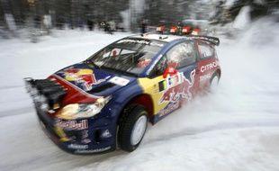 Sébastien Loeb remporte le rallye de Norvège, le 15 février 2009