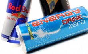 Illustrations Red Bull, Burn et Energy Drink Zero.