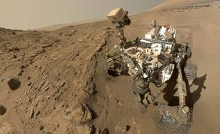 Un selfie du robot Curiosity, sur Mars, en avril 2014.