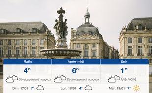 Météo Bordeaux: Prévisions du samedi 16 janvier 2021