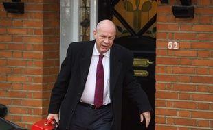 Damian Green à la sortie de son domicile le 4 décembre 2017.