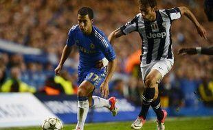 Le Londonien EdenHazard, le 19 septembre 2012, contre la Juventus de Turin.