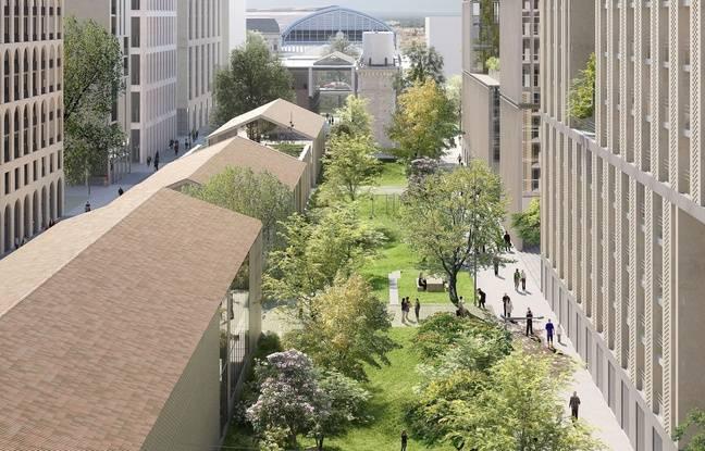 Vue du futur jardin du sacré coeur, dans le quartier Citernes du périmètre Euratlantique à Bordeaux.