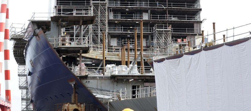 Les chantiers navals STX à Saint-Nazaire (Illustration).