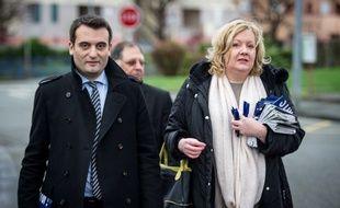 Florian Philippot et Sophie Montel, le 1er décembre 2015 à Delle.