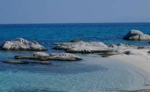 La plage d'une île grecque.