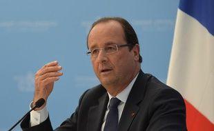 François Hollande lors d'une conférence au G20, à Saint-Pétersbourg (Russie), le 6 septembre 2013.