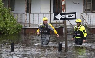 Des secouristes à New Bern en Caroline du Nord après le passage de la tempête Florence, le 15 septembre 2018.